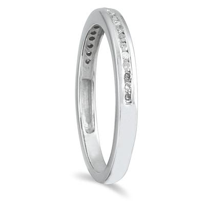 1/5 Carat TW Diamond Wedding Channel Band in 10K White Gold