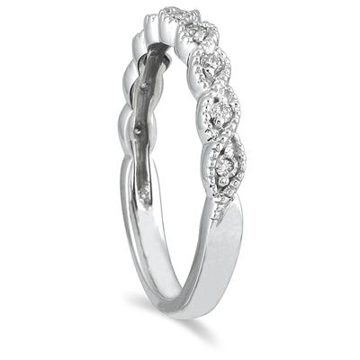 1/8 Carat TW Diamond Wedding Band in 10K White Gold