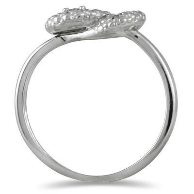 1/4 Carat TW Diamond Knot Ring in 10K White Gold