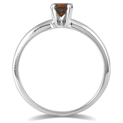1/4 CTW Cognac Diamond Ring in 14K White Gold