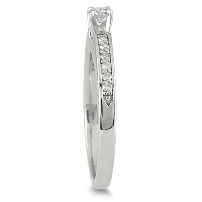1/4 Carat Diamond Promise Ring in 10K White Gold