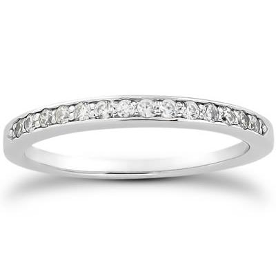 1/6 Carat TW Diamond Band in 10k White Gold