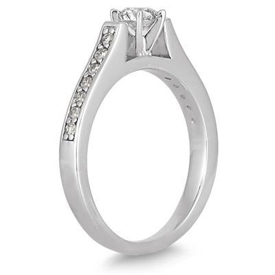 1/2 Carat TW Diamond Ring in 10K White Gold
