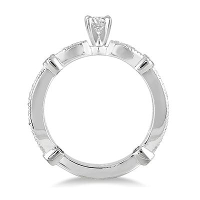 1/2 Carat TW Diamond Promise Ring in 10K White Gold