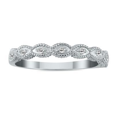 1/10 Carat TW Diamond Band in 10K White Gold