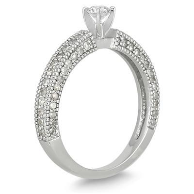 3/4 Carat Diamond Promise Ring in 10K White Gold