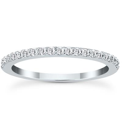 1/4 Carat TW White Diamond Band in 10K White Gold (K-L Color, I2-I3 Clarity)