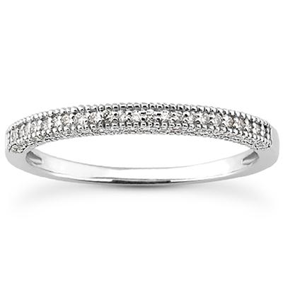 1/6 Carat TW Diamond Wedding Band in 10K White Gold