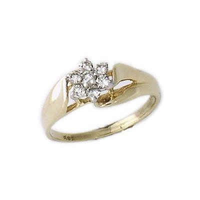Seven Diamond Flower Ring
