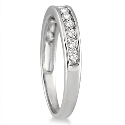 1/2 Carat TW Channel Set Diamond Band in 10K White Gold