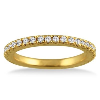 3/8 Carat Diamond Eternity Band in 14K Yellow Gold