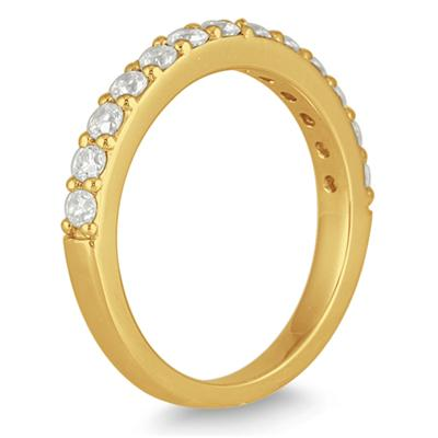 1/2 Carat Diamond Wedding Band in 14K Yellow Gold