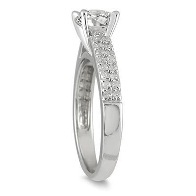 1 Carat TW Diamond Engagement Ring in 14K White Gold