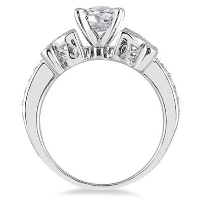 3/4 Carat TW Diamond Engagement Ring in 14K White Gold