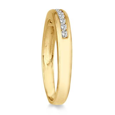 1/4 Carat Channel Set Diamond Wedding Band in 14K Yellow Gold