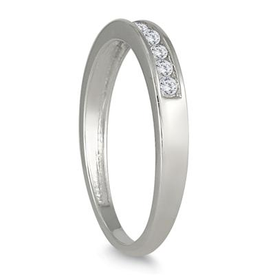 1/4 Carat TW Channel Set Diamond Band in 10K White Gold (K-L Color, I2-I3 Clarity)