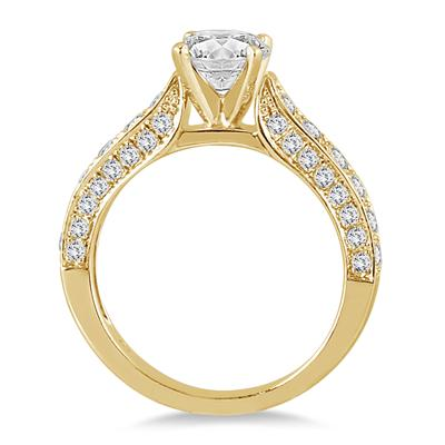 AGS Certified 1 7/8 Carat TW Diamond Ring in 14K Yellow Gold (J-K Color, I2-I3 Clarity)