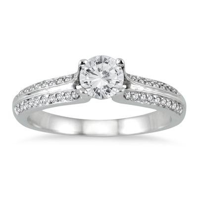 5/8 Carat TW Diamond Engagement Ring in 14K White Gold