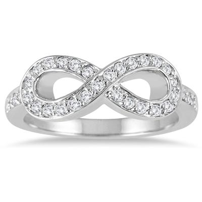 2/5 Carat TW Diamond Infinity Ring in 10K White Gold