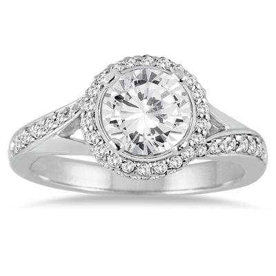 1 1/2 Carat TW Diamond Engagement Ring in 14K White Gold