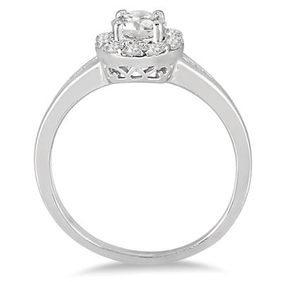 3/4 Carat TW Diamond Engagement Ring in 14K White Gold