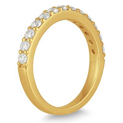 1/2 Carat TW Diamond Wedding Band in 10K Yellow Gold