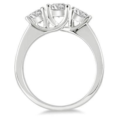 2 Carat TW Diamond Three Stone Ring in 14K White Gold