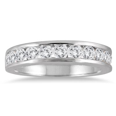 1 Carat TW Channel Set Diamond Band in 10K White Gold