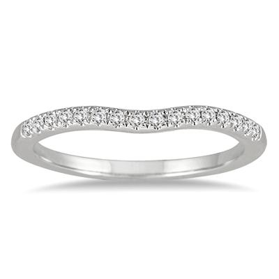1/10 Carat TW Diamond Wedding Band in 14K White Gold