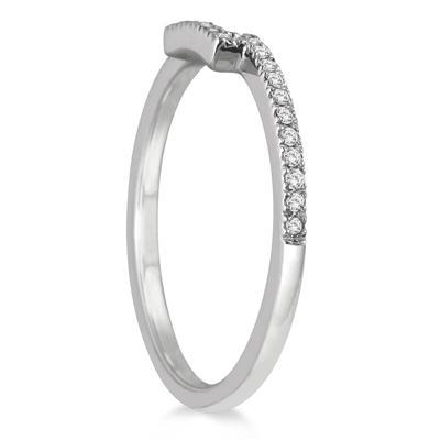 1/8 Carat TW Diamond Wedding Band in 14K White Gold