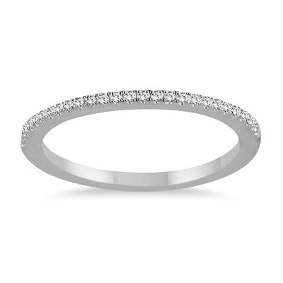 1/5 Carat Diamond Wedding Band in 14K White Gold
