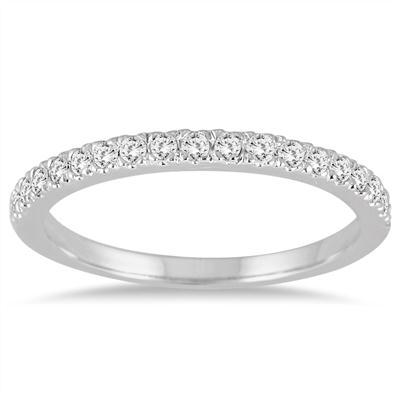 1/3 Carat TW Diamond Wedding Band in 14K White Gold