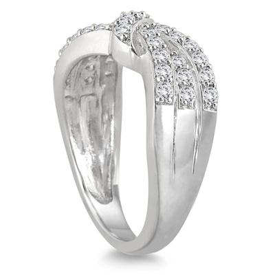 1/2 Carat TW Diamond Knot Ring in 10K White Gold
