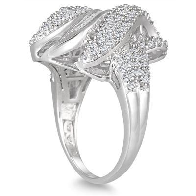 2 Carat Diamond Estate Ring in .925 Sterling Silver
