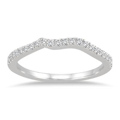 1/10 Carat TW Diamond Band in 14K White Gold