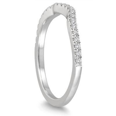 1/10 Carat TW Diamond Band in 14K White Gold