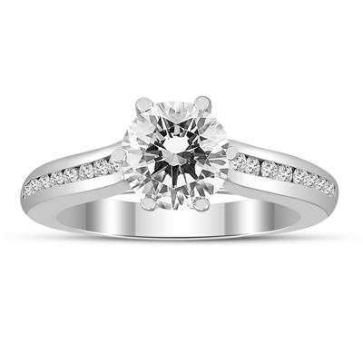 Certified 1 Carat TW Diamond Engagement Ring in 14K White Gold (J-K Color, I2-I3 Clarity)