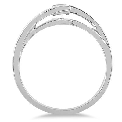 1/4 Carat Princess Cut Diamond Solitaire Ring in 10K White Gold