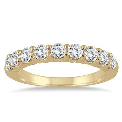 1 3/8 Carat TW Diamond Wedding Band in 14K Yellow Gold