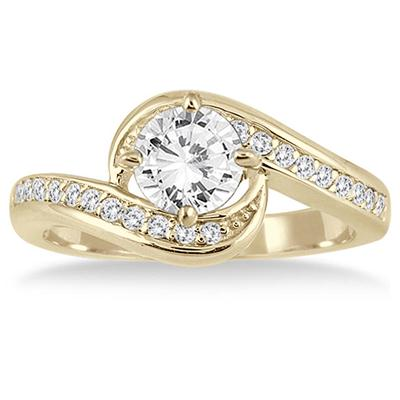 AGS Certified 1 1/5 Carat TW Diamond Engagement Ring in 14K Yellow Gold (I-J Color, I2-I3 Clarity)