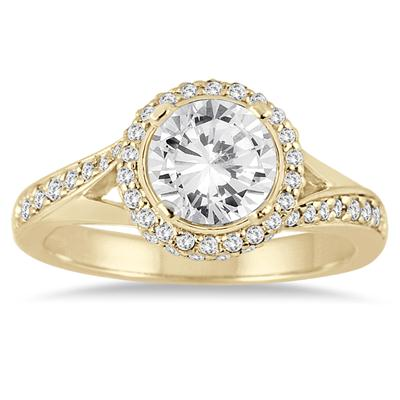 AGS Certified 1 3/8 Carat TW Diamond Engagement Ring in 14K Yellow Gold (I-J Color, I2-I3 Clarity)