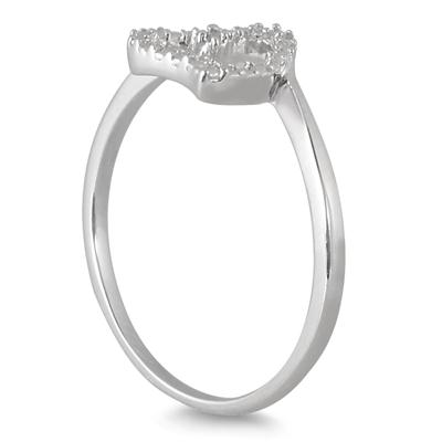 Diamond Accent Heart Ring in .925 Sterling Silver