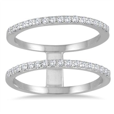 3/8 Carat TW Diamond Double Row Ring in 10K White Gold