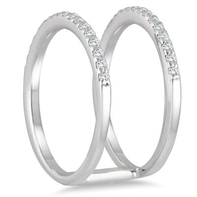 1/3 Carat TW Diamond Double Row Ring in 10K White Gold