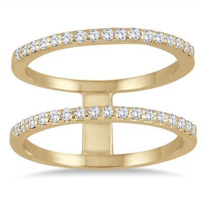 1/3 Carat TW Diamond Double Row Ring in 10K Yellow Gold