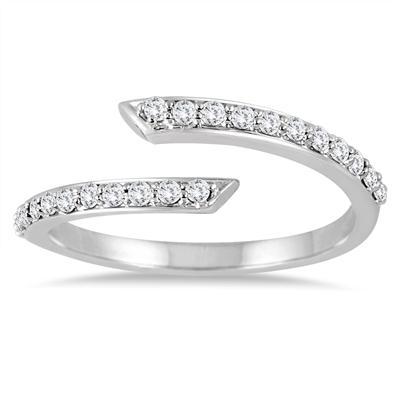 1/3 Carat TW Split Bypass Diamond Ring in 14K White Gold