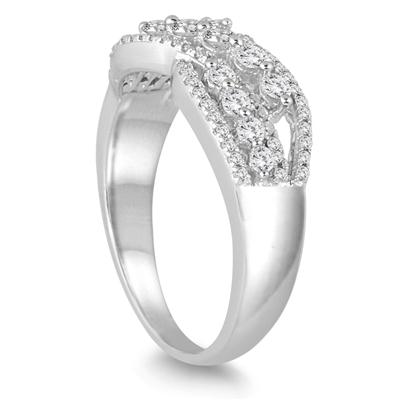 5/8 Carat TW Diamond Fashion Ring in 10K White Gold