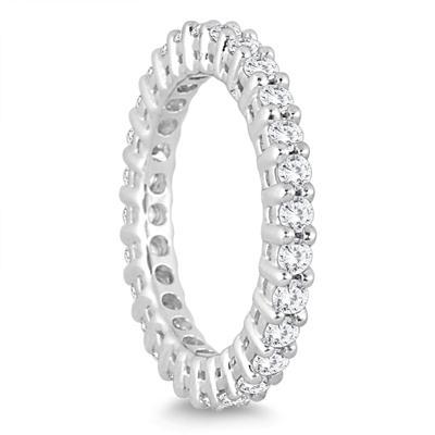 1 Carat TW Diamond Eternity Band in 14K White Gold