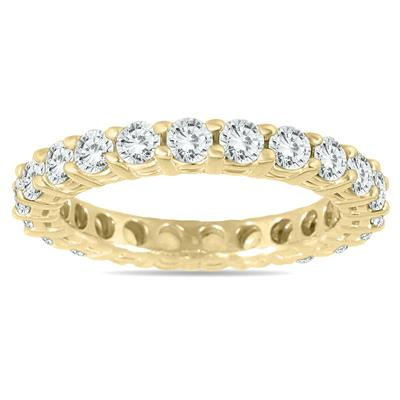 de3dad36b8a753 2 Carat TW 14K Yellow Gold Diamond Eternity Band - RGF56068D