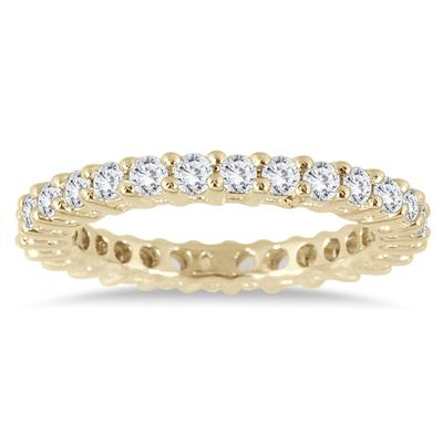 1 Carat TW Diamond Eternity Band in 10K Yellow Gold